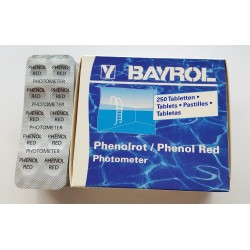 250 PASTIGLIE REAGENTI PER FOTOMETRO PHENOL RED (PH) - BAYROL